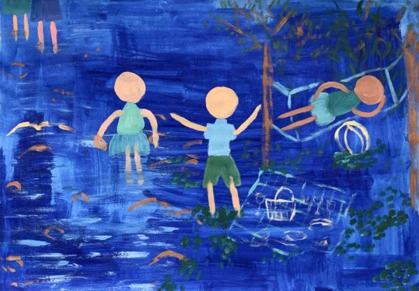 Blue (Picnic 1), 2019