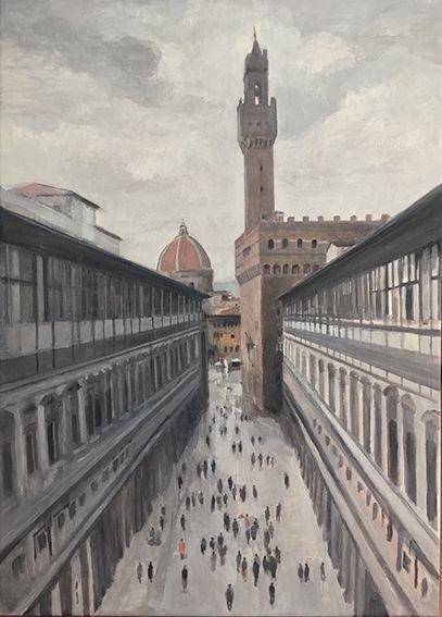 Granell. Gema Llamazares. Vista desde la Galeria de los Uffizi