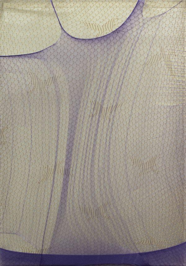 Serie Crosseider nº 17, 2020. Tejido en caja de metacrilato 35 x 25 x 6 cm.
