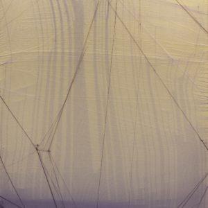 Serie Crosseider nº 19, 2020. Tejido en caja de metacrilato 35 x 25 x 6 cm.