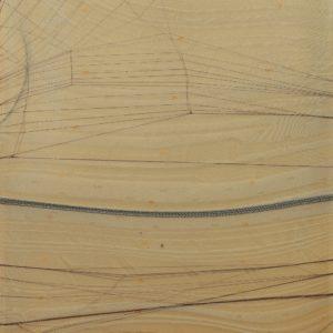 Serie Crosseider nº 20, 2020. Tejido en caja de metacrilato 35 x 25 x 6 cm.