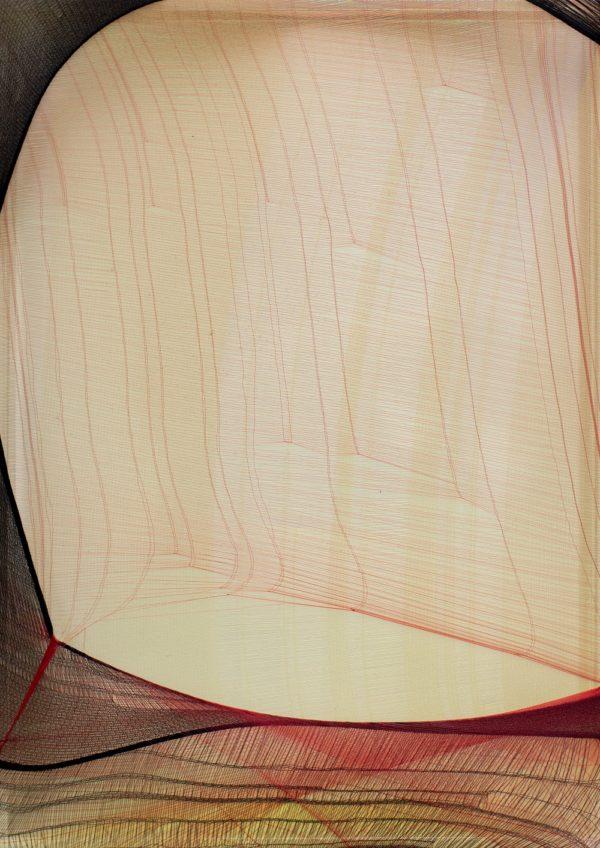 Serie Crosseider nº 23, 2020. Tejjido en caja de metacrilato, 35 x 25 x 5 cm.