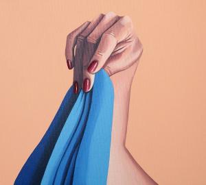 El vestido azul de Helena Toraño